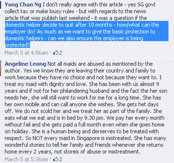 Life As A Singapore Domestic Maids Employer Maid Terminated